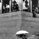 ダルバール広場の日傘
