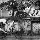 Cycle Rickshaw In The Rain @ India