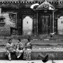 Three Women In Durbar Square @ Nepal