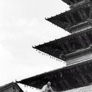 Two Men On The Roof Of A Temple @ Nepal