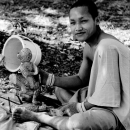 Carving Monk @ Laos