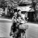 Mother And Two Sons @ Laos