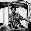 Round Eyes On An Auto Rickshaw