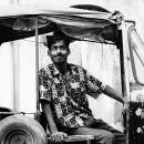 Round Eyes On An Auto Rickshaw