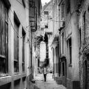 School Boy In The Alleyway