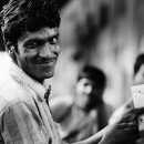 Man Holding Cards @ India