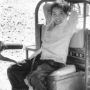 Boy On A Tractor @ Laos