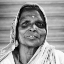 Elderly Woman With A Bindi