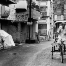 Cycle Rickshaw In The Deserted Street