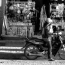 Motorbike In Front Of A Shop @ Laos