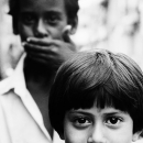 Girl With Bobbed Hair And Boy @ India