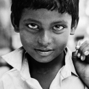Piercing Gaze Of A Boy @ India
