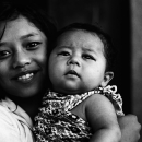 Girl And A Baby @ Nepal