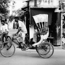 Cycle Rickshaw In The Street