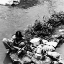Woman And Plateware @ Nepal