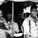 Passengers On An Auto Rickshaw @ India