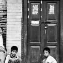 Two Boys In Front Of The Door @ Nepal
