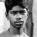 Young Man With Pierced Earrings @ India