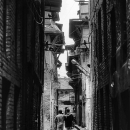 Two Men In The Narrow Street @ Nepal