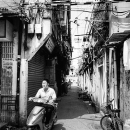 Motorbike Coming Out From The Lane @ China