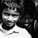 Challenging Look Of A Boy @ India