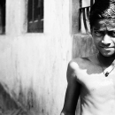 Boy Standing In The Lane @ India