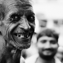 Man Showing His Teeth @ India