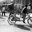 Cycle Rickshaw On The Street @ India