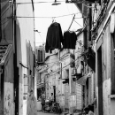 Figure And Laundries In The Lane