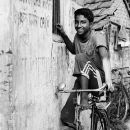 Youngster On A Bicycle @ India
