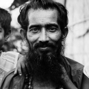 Shaggy Beard And Two Little Boys @ India