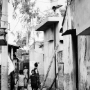 Boys And A Ladder In The Lane @ India