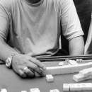 Man Playing Mahjong @ China