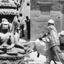 Buddha Seated Cross-legged In Meditation In The Streets