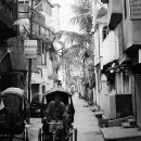 Cycle Rickshaw Running In The Narrow Street @ India