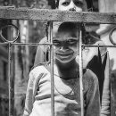 Girl And Boy At The Other Side Of The Fence @ Nepal