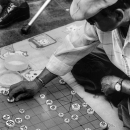 Man Playing Xiangqi On The Ground @ South korea