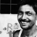 Man Raising A Smile @ India