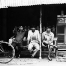 Three Men At A Small Tea Shop @ India