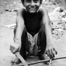 Boy With A Chopper Smiled @ India
