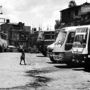 Girl And Buses @ Nepal