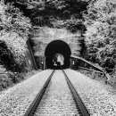 Railway Continues Into The Tunnel