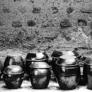 沢山のキムチ壺
