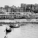 Wooden Boats And Passenger Ferries @ Bangladesh