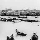 Drifting Boats On The The Buriganga River