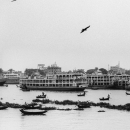 Rowboats Were Floating On The Buriganga River @ Bangladesh