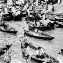 Boat-clogged Wharf In Sadarghat @ Bangladesh