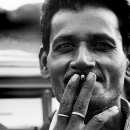 A Cigarette Between His Fingers @ India