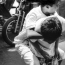 Boy Holding Onto Boy Tightly @ Philippines