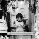 Little Girl In The Counter
